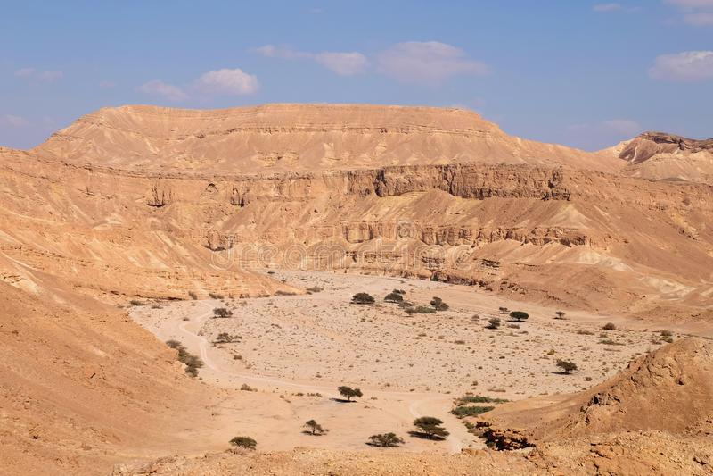 Paisaje escénico del desierto del Néguev fotografía de archivo