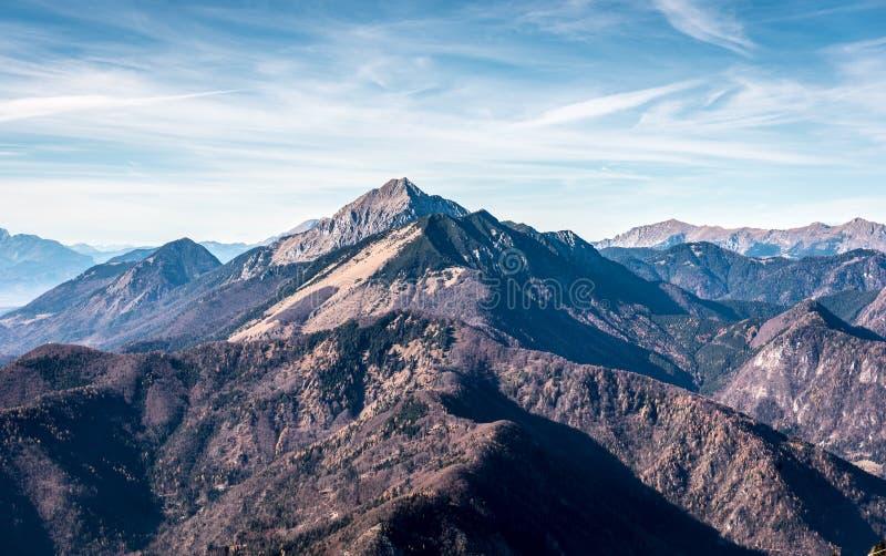 Paisaje escénico Storzic de la montaña de Eslovenia imagen de archivo