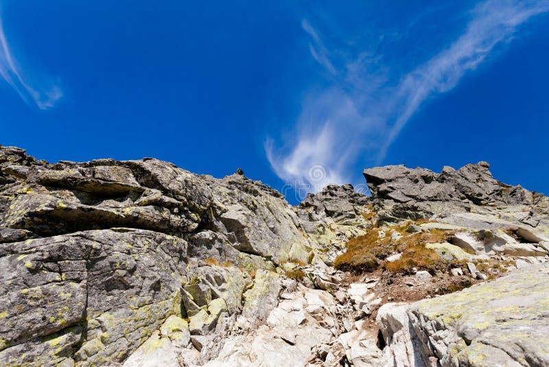 Paisaje eslovaco de Tatra del dolina de Furkotska fotos de archivo