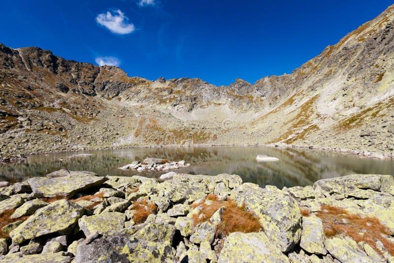 Paisaje eslovaco de Tatra del pleso de Capie foto de archivo libre de regalías