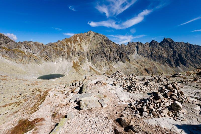 Paisaje eslovaco de Tatra del pleso de Okruhle imagen de archivo