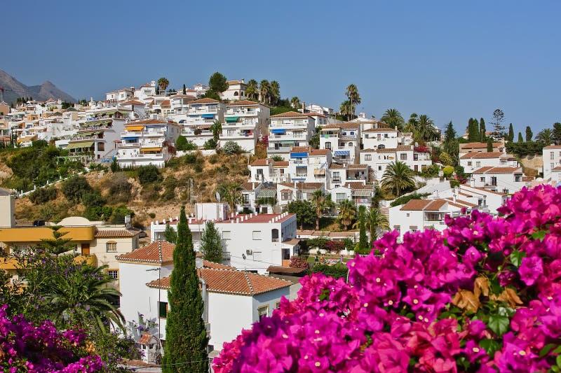 Paisaje Español, Nerja, Costa Del Sol Imagen de archivo libre de regalías