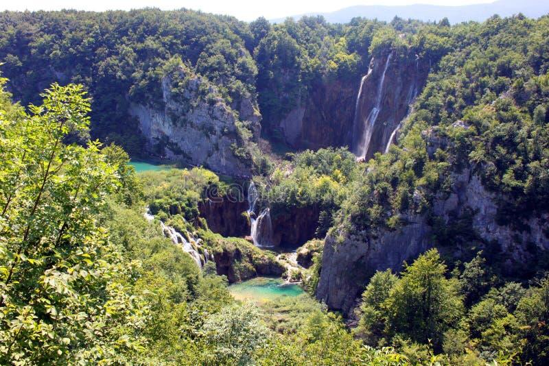 Paisaje espectacular en el parque nacional de Plitvice imagen de archivo