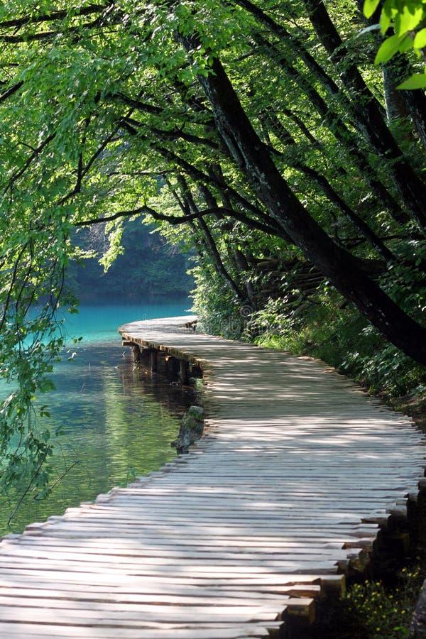 Paisaje espectacular en el parque nacional de Plitvice imagenes de archivo