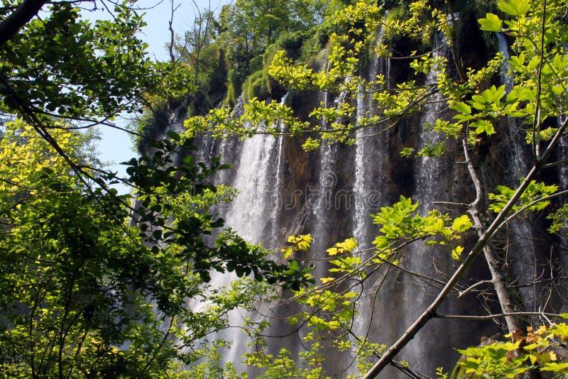 Paisaje espectacular en el parque nacional de Plitvice foto de archivo libre de regalías