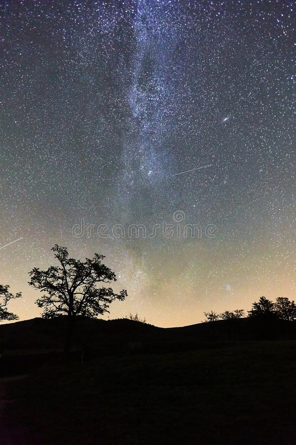 Paisaje estrellado del cielo foto de archivo libre de regalías
