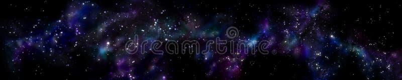 Paisaje estrellado del panorama Panorama del universo imagen de archivo