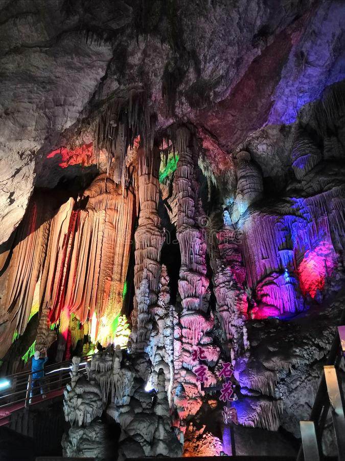 Paisaje famoso de la cueva de Pekín Fangshan Shihua imagen de archivo