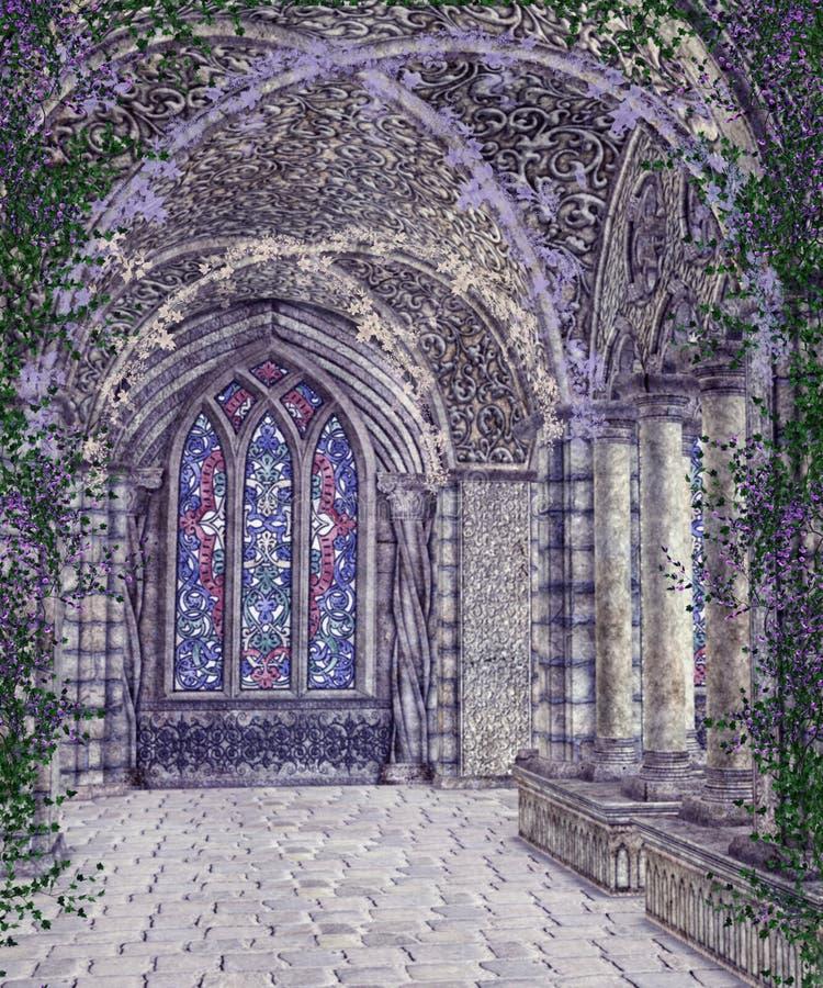 Paisaje gótico 112 ilustración del vector