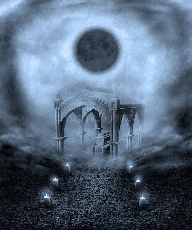 Paisaje gótico 22 stock de ilustración