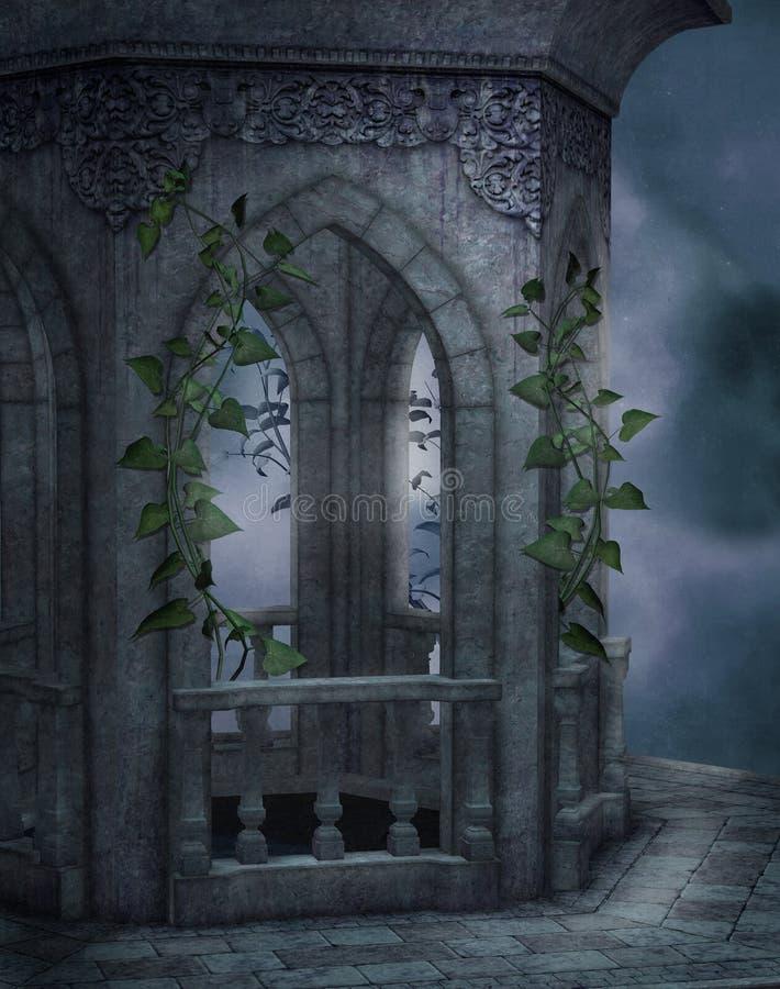 Paisaje gótico 31 ilustración del vector