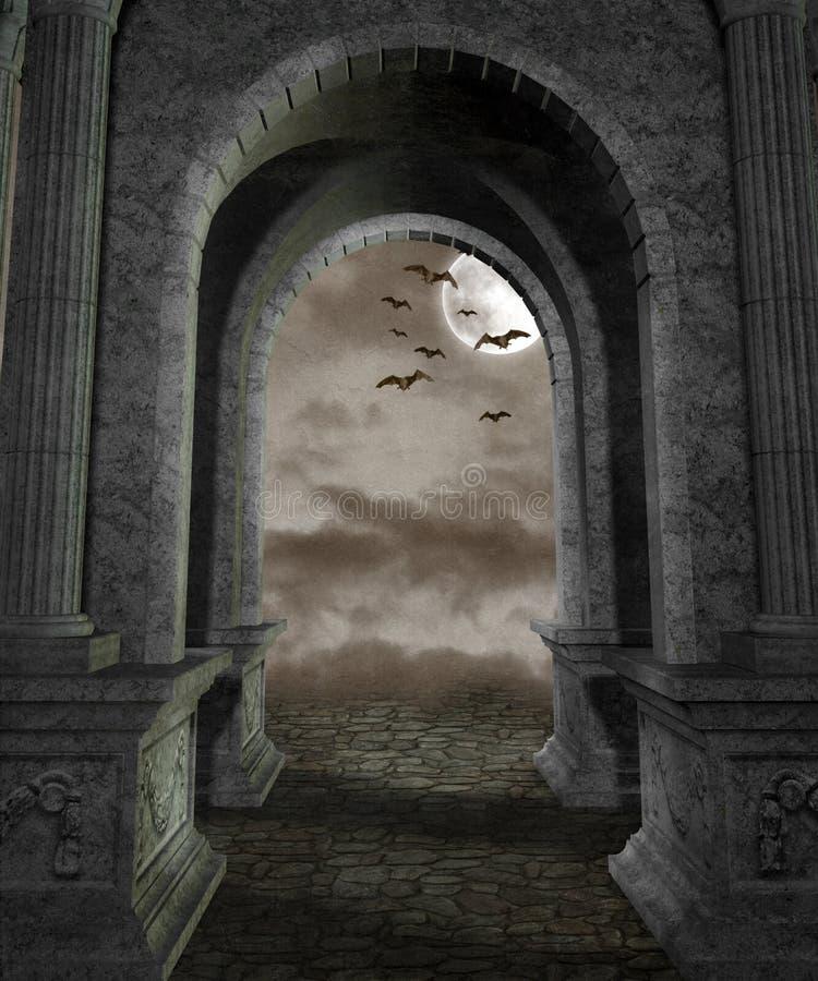 Paisaje gótico 44 libre illustration