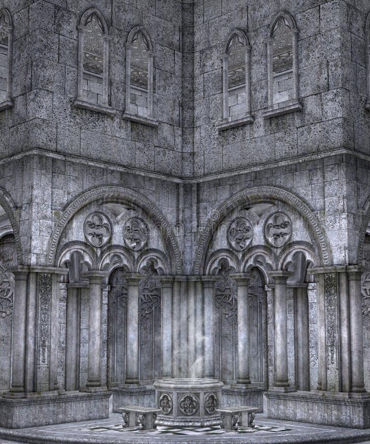 Paisaje gótico 52 ilustración del vector