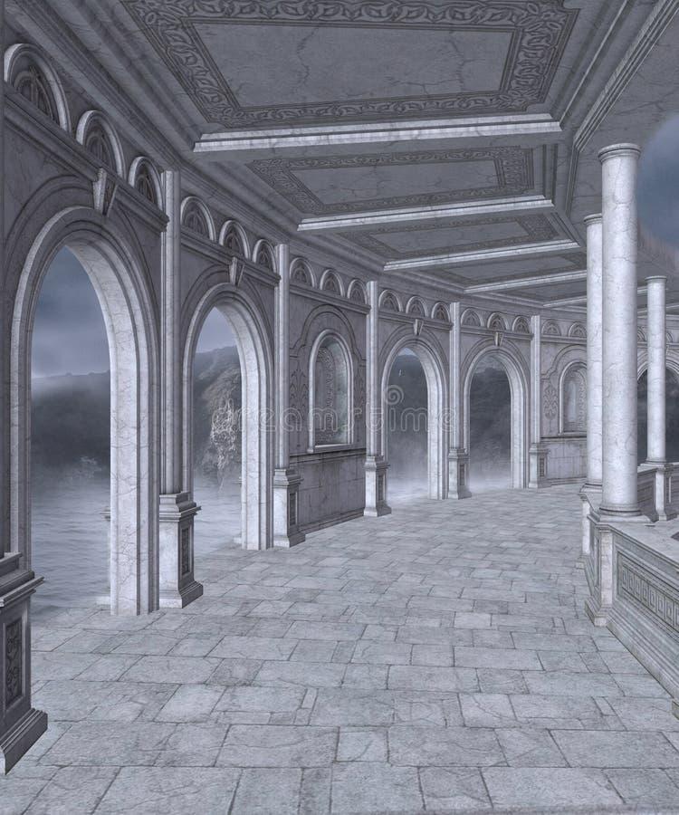 Paisaje gótico 53 ilustración del vector