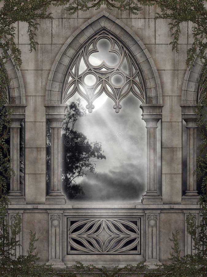 Paisaje gótico 67 ilustración del vector