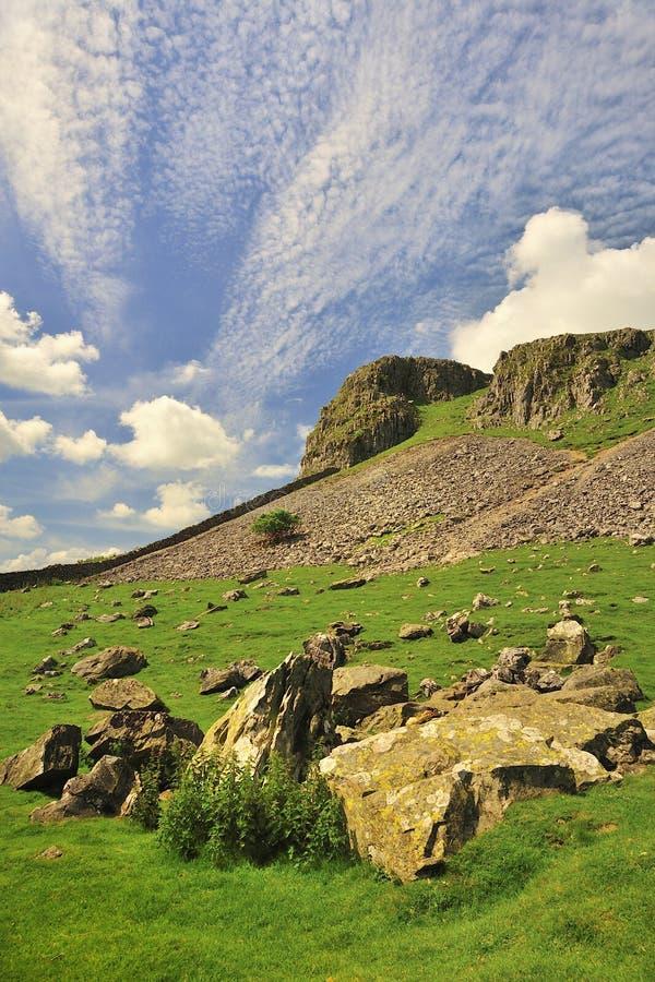 Paisaje geológico, valles de Yorkshire foto de archivo