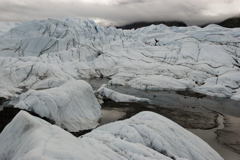 Paisaje glacial fotografía de archivo