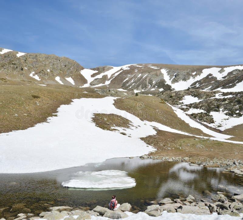 Paisaje glacial del valle de Madriu-Perafita-Claror fotos de archivo