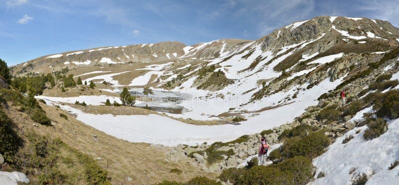 Paisaje glacial del valle de Madriu-Perafita-Claror imágenes de archivo libres de regalías