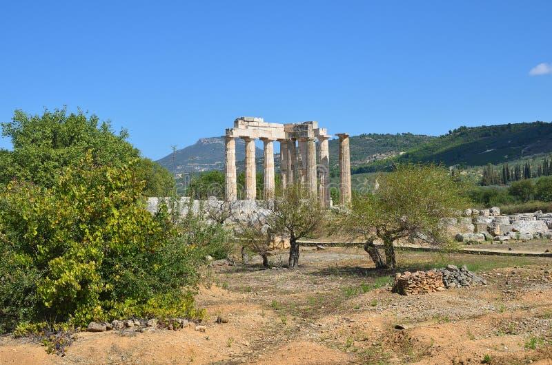 Paisaje griego cerca de Nemea, Peloponeso, Grecia fotos de archivo libres de regalías