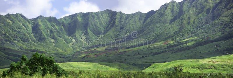 Paisaje hawaiano - montañas imagen de archivo