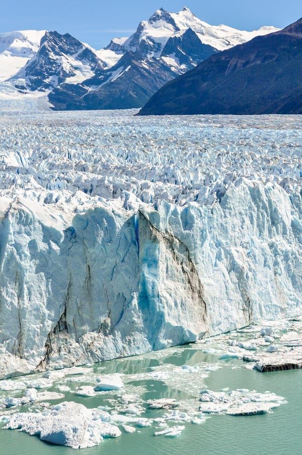 Paisaje helado, Perito Moreno Glacier, la Argentina imagen de archivo libre de regalías
