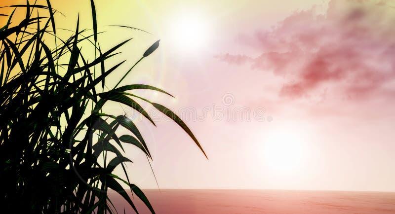 paisaje herboso 3D libre illustration
