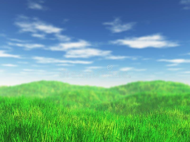 paisaje herboso 3D stock de ilustración
