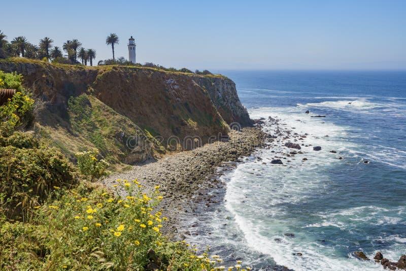 Paisaje hermoso alrededor de Vicente Lighthouse imagen de archivo