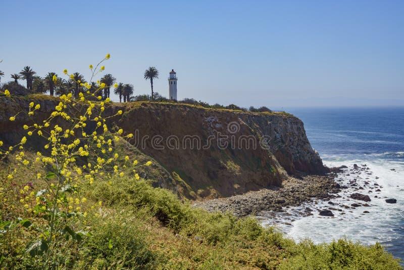 Paisaje hermoso alrededor de Vicente Lighthouse foto de archivo