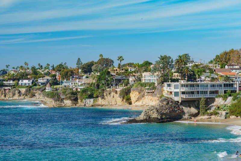 Paisaje hermoso alrededor del Laguna Beach imagen de archivo