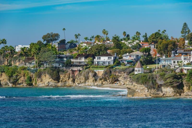 Paisaje hermoso alrededor del Laguna Beach foto de archivo