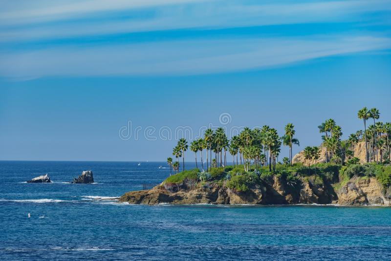 Paisaje hermoso alrededor del Laguna Beach foto de archivo libre de regalías