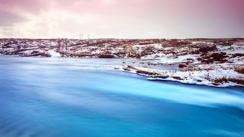 Paisaje hermoso de Islandia imagenes de archivo