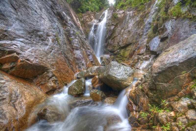 Paisaje hermoso de la cascada en Gunung Pulai, Johor, Malasia fotografía de archivo libre de regalías