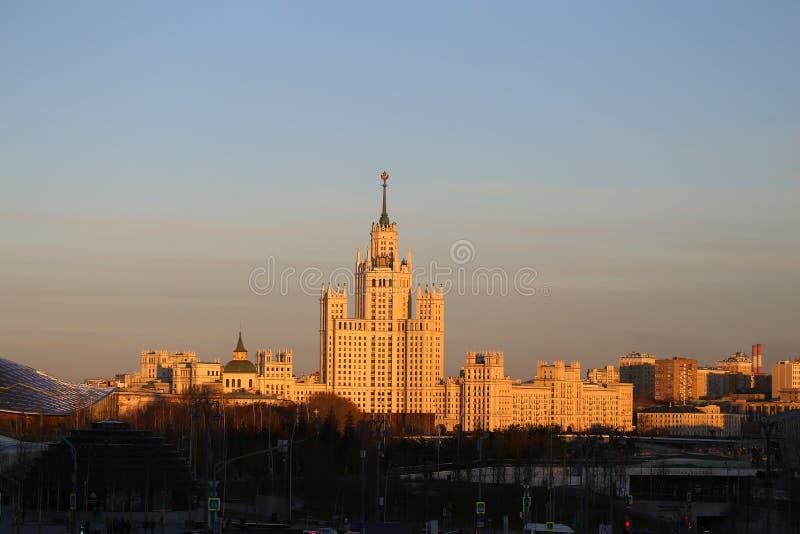 Paisaje hermoso de la foto de la alta subida de Moscú foto de archivo libre de regalías