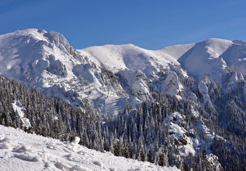 Paisaje hermoso de la montaña del invierno fotos de archivo libres de regalías