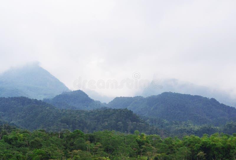 Paisaje hermoso de la montaña del merapi imagen de archivo