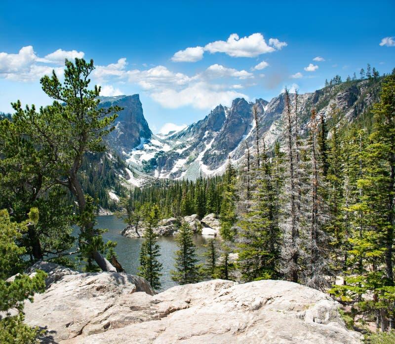 Paisaje hermoso de la montaña en Colorado imagen de archivo