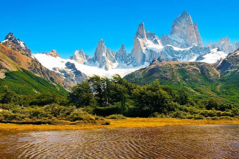 Paisaje hermoso de la naturaleza en el Patagonia, la Argentina imagenes de archivo