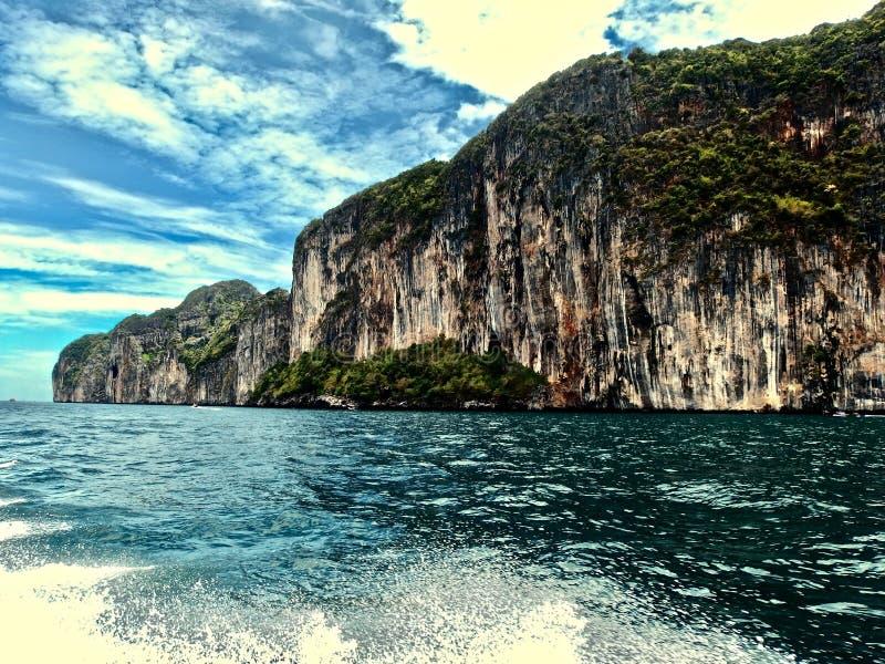 Paisaje hermoso de la playa en Tailandia Phuket Viajes imagen de archivo