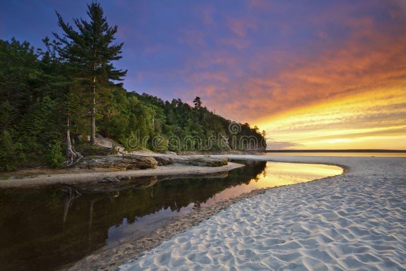 Paisaje hermoso de Michigan. fotos de archivo