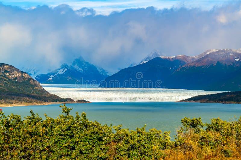 Paisaje hermoso de Perito Moreno Glacier en el parque nacional del Los Glaciares imagenes de archivo