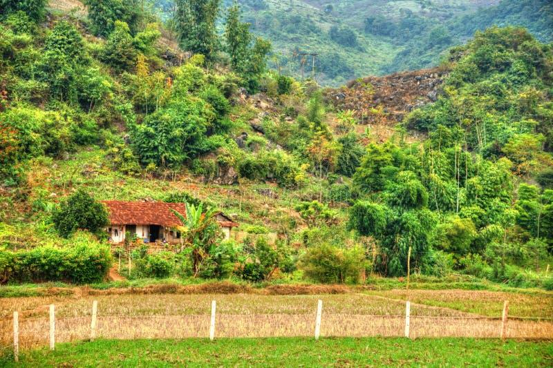 Paisaje hermoso de Vietnam septentrional imagen de archivo