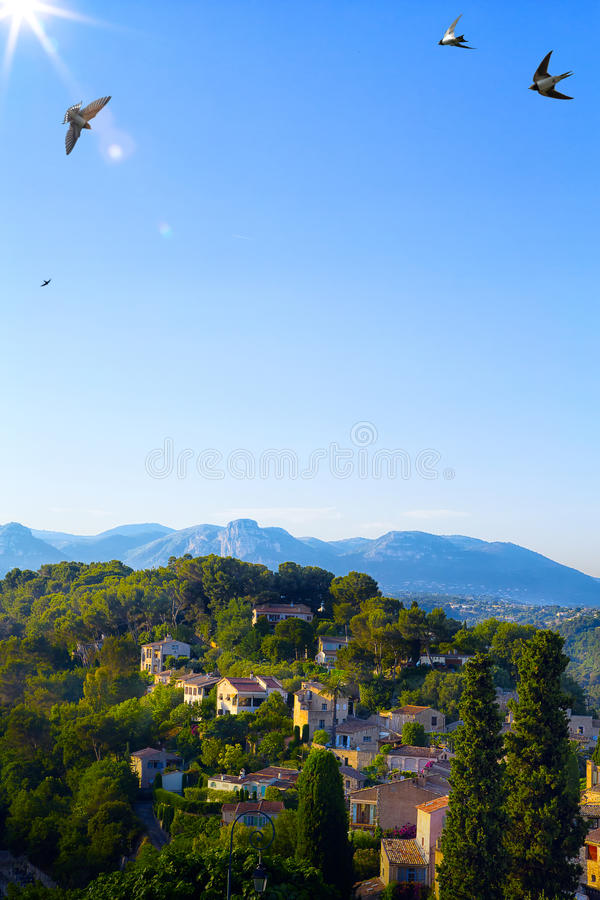 Paisaje hermoso del arte en Provence fotos de archivo