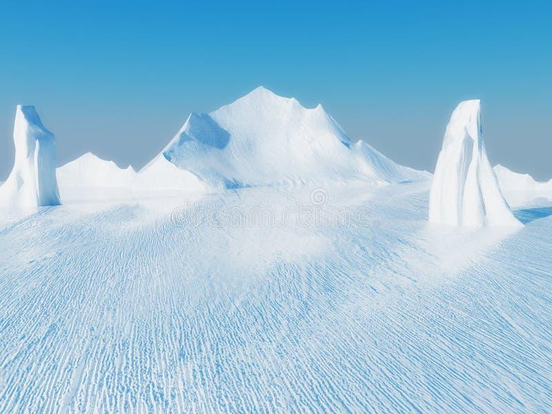 Paisaje hermoso del hielo stock de ilustración