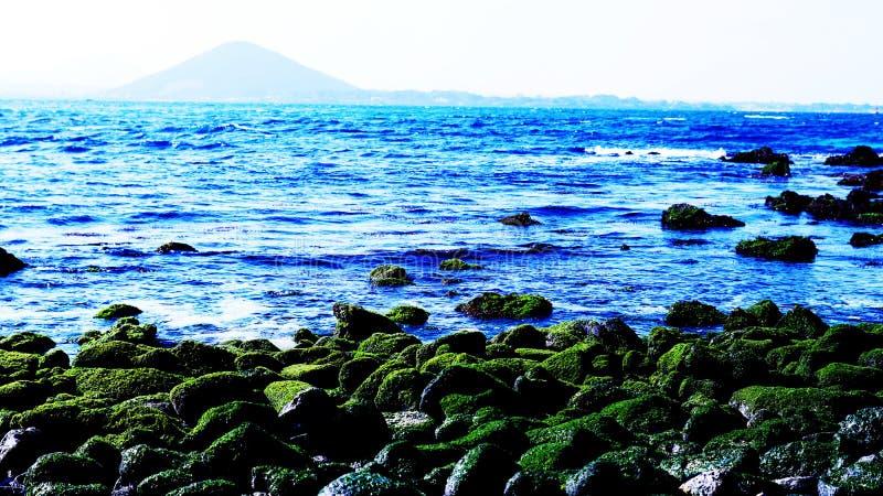 Paisaje hermoso del mar de Udo, isla de Jeju imagen de archivo