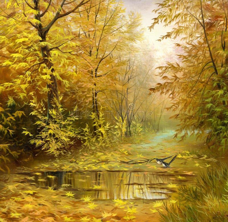 Paisaje hermoso del otoño stock de ilustración