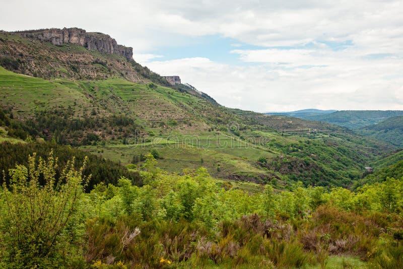 Paisaje hermoso del parque de la reserva natural en Cevennes, Francia fotos de archivo libres de regalías