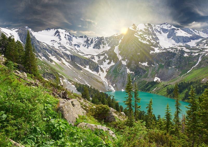 Paisaje hermoso del verano, montañas Rusia de Altai fotografía de archivo